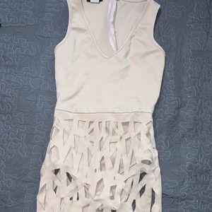 TopChic mini dress Laser cut detail